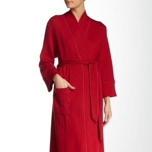 NWT Natori Banu Long Robe in Red Size Large